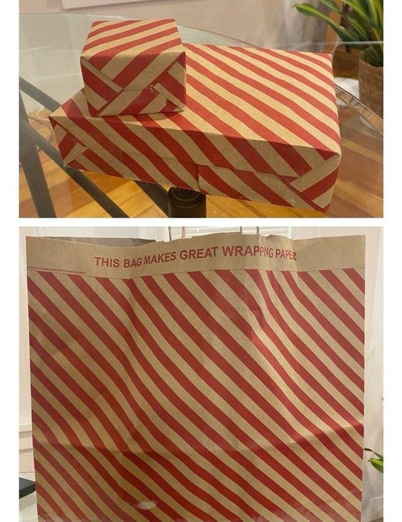 Бэлэг боох боломжтой цаасан уут