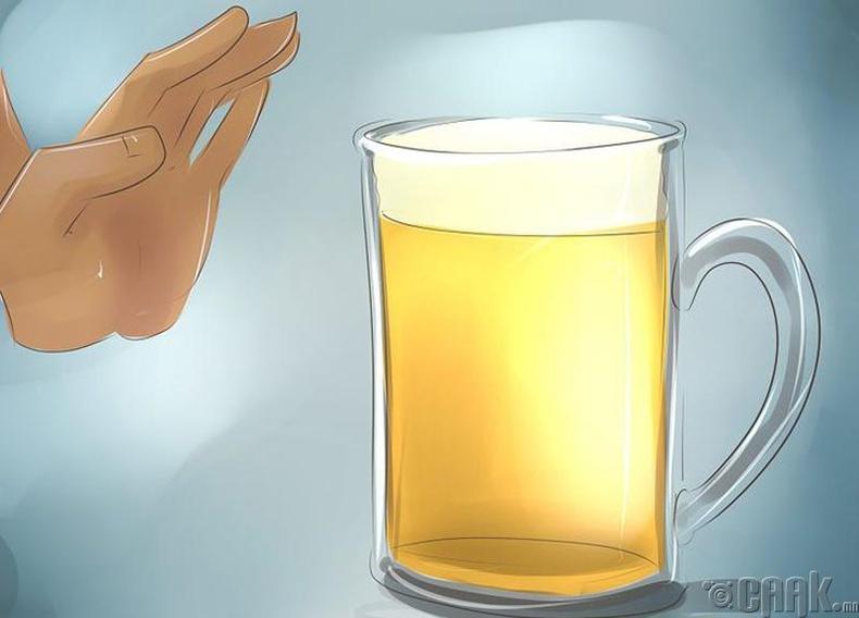 Бие эхлээд согтууруулах ундааг гадагшлуулдаг