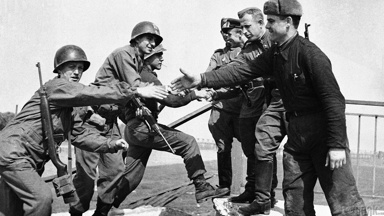 Элба гол дээрх уулзалт, 1945 оны хавар