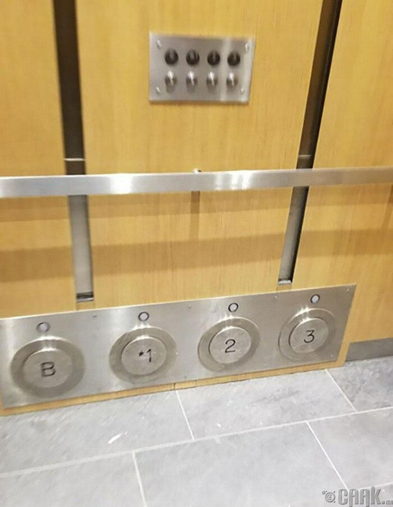 Лифтний хананы доод хэсэгт байрлах товчлуур