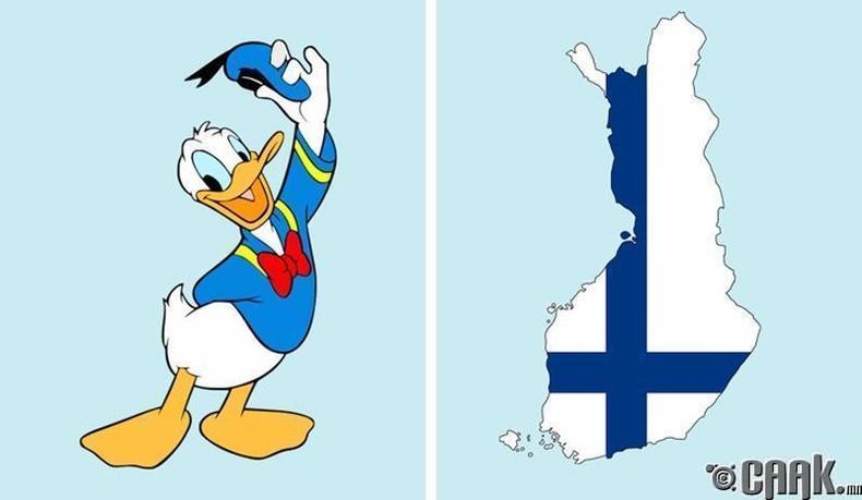 Өмд өмсдөггүй учир Дональд нугасыг Финланд улс зурагтаар гаргахыг хориглосон