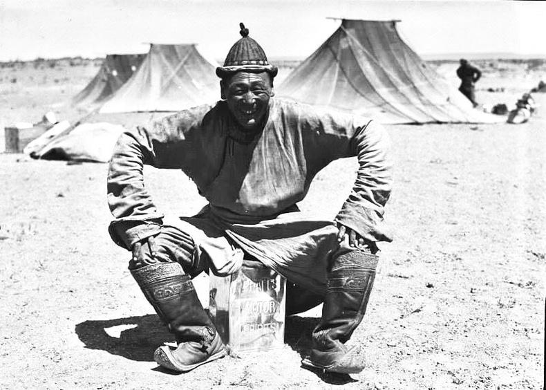 Рой Чэпмен Эндрюсийн экспедицийн үеэр зочилсон монгол эр