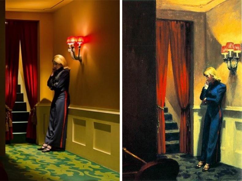 """""""Shirley - Visions of Reality """" (2013), найруулагч Густав Дойч - """"New York Cinema"""", зураач Эдвард Хоппер, 1939"""