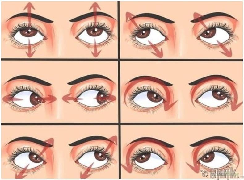 Нүдний энгийн дасгал