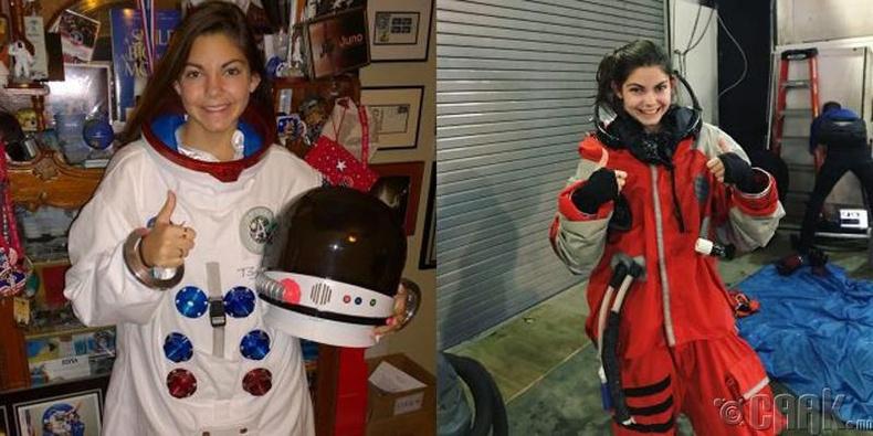 Сансрын нисэгч-дадлагажигч Алисса Карсон