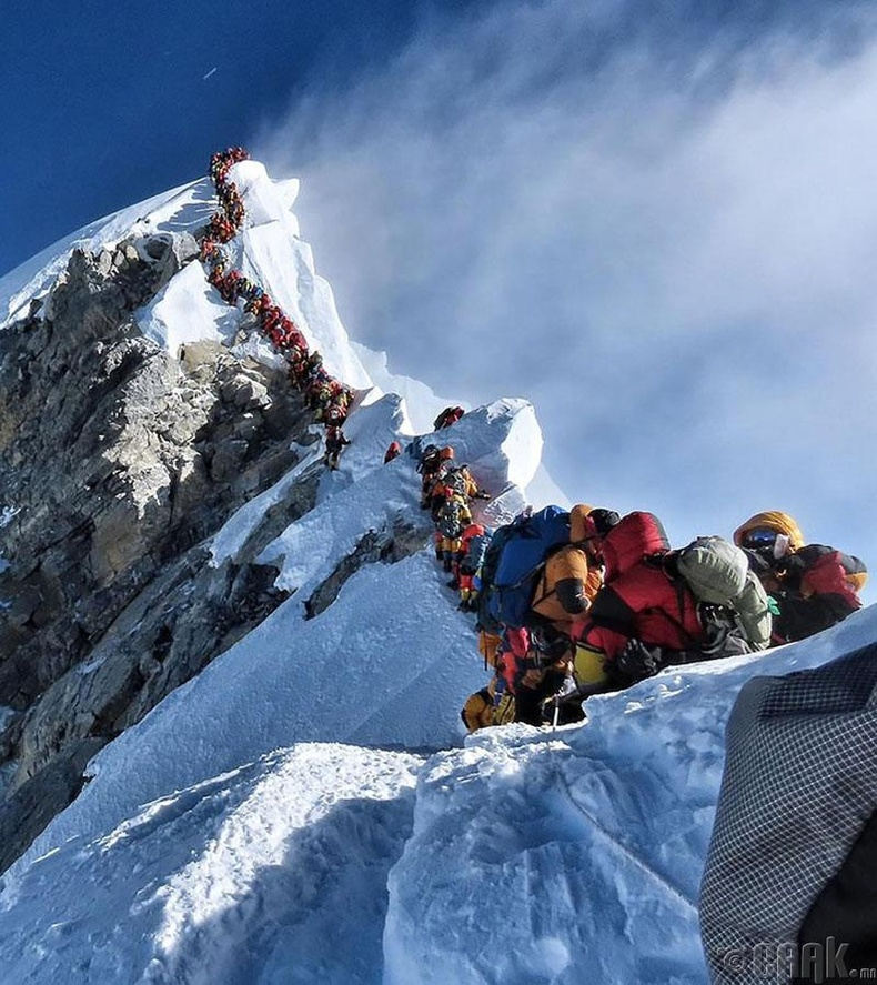 Эверест ууланд үүссэн дараалал