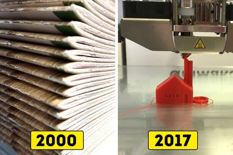 Цаас хэвлэдэг байсан бол 3D зүйл хэвлэж байна