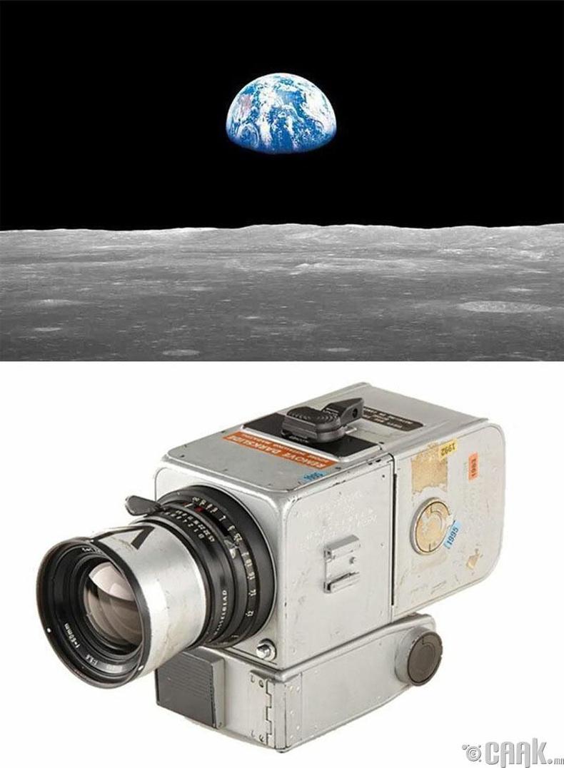 """Жаргаж буй дэлхий"", Уильям Андерс, 1968 он. ""Hasselblad 500"" камер"