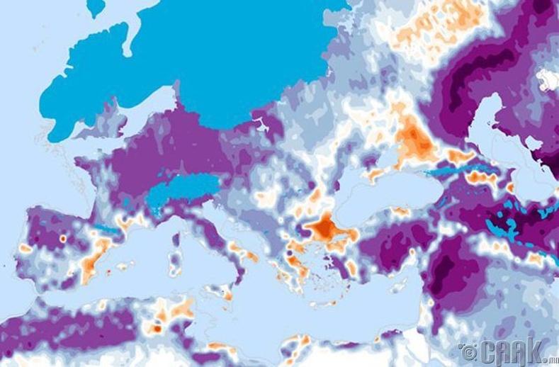 Мөстлөгийн үеийн хүмүүс Европын одоогийн газар нутгийг бий болгожээ