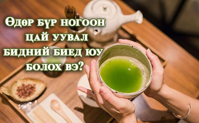 Яагаад өдөр бүр ногоон цай уух хэрэгтэй вэ?