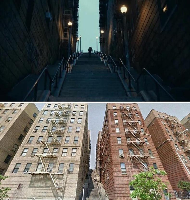 Жокерын бүжиглэдэг шат нь Нью-Йоркийн Бронкст байдаг бөгөөд Андерсоны болон Шекспирийн өргөн чөлөөг холбодог байна.
