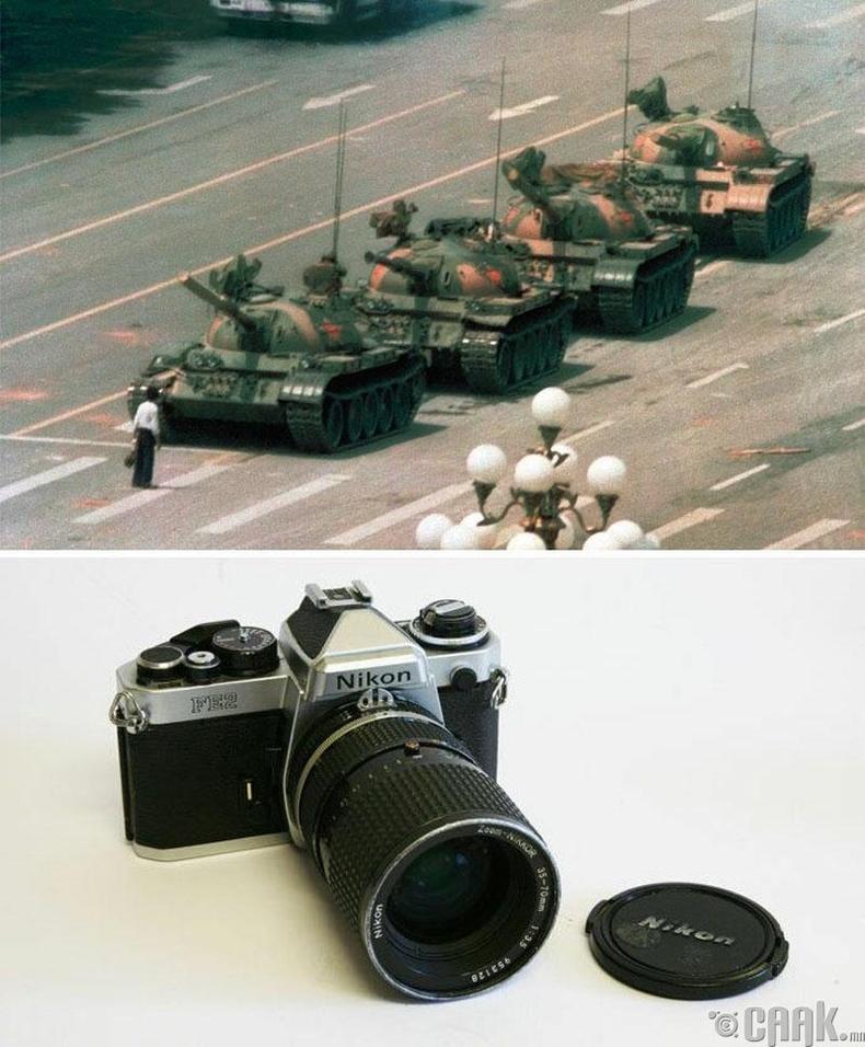 """""""Үл мэдэх босогч"""", Жефф Уайндер, 1989 он. """"Nikon Fe2"""" камер"""