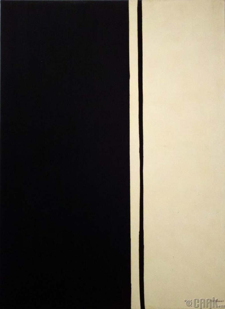 """Барнетт Ньюман """"Black Fire I""""- 84.2 сая доллар"""