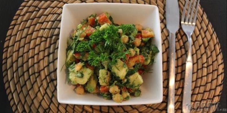 Самар, авокадотой ногооны салат