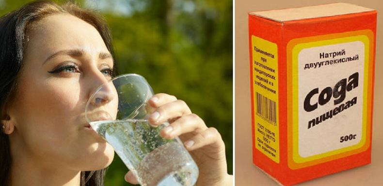 Өлөн ходоодон дээрээ содатай ус уувал юу болох вэ?