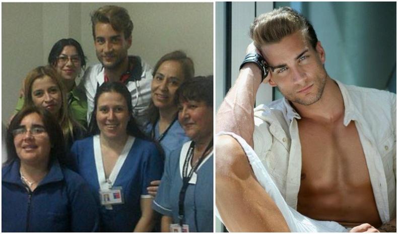 Эмэгтэйчүүдийн эмч мэргэжилтэй Испани залуугийн халуухан зургууд