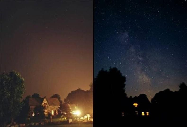 Хотын бүх гэрэл унтарвал шөнийн тэнгэр ингэж харагдана