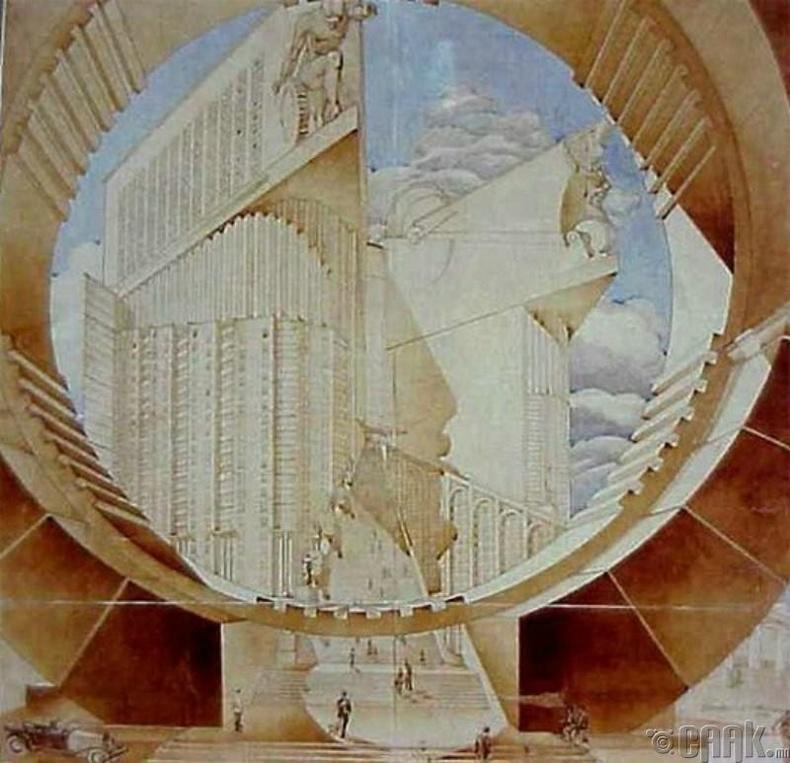 Улаан талбайд байрлах байсан К. Мельниковын нэрэмжит аж үйлдвэрийн ардын комиссын барилга