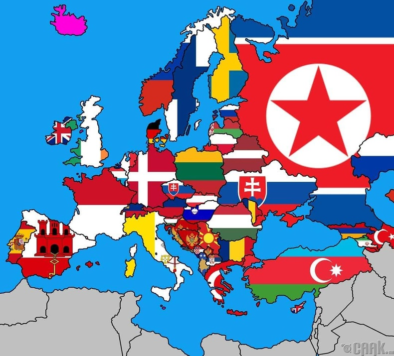 Европын орнууд ямар улстай хамгийн богино зурвасаар хиллэдэг вэ?