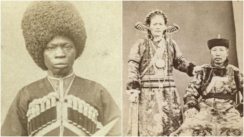 19-р зууны Хаант Орос улсад амьдарч байсан олон үндэстний төлөөллүүд (Түүхэн зураг)