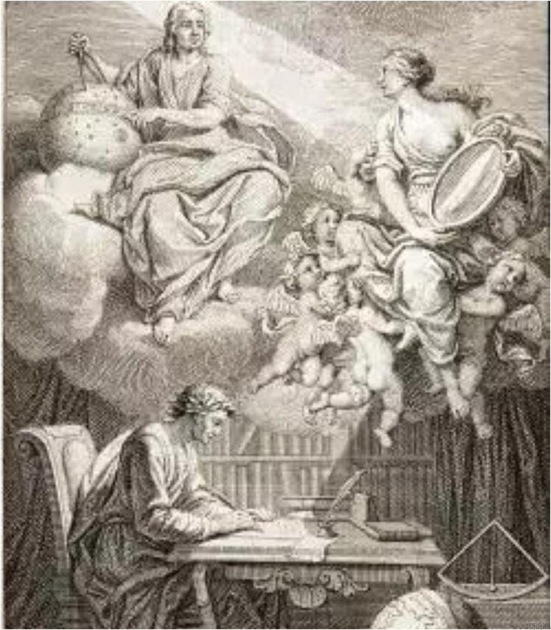 Вольтер Исаак Ньютон болон түүний алдарт алимны онолыг түгээхэд тусалсан