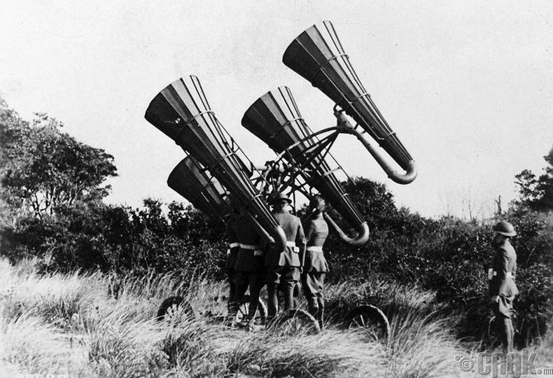 АНУ-ын зэвсэгт хүчин дэлхийн I дайны үеэр шинээр бүтээсэн онгоц илрүүлэх төхөөрөмжөө туршиж үзэж байна -