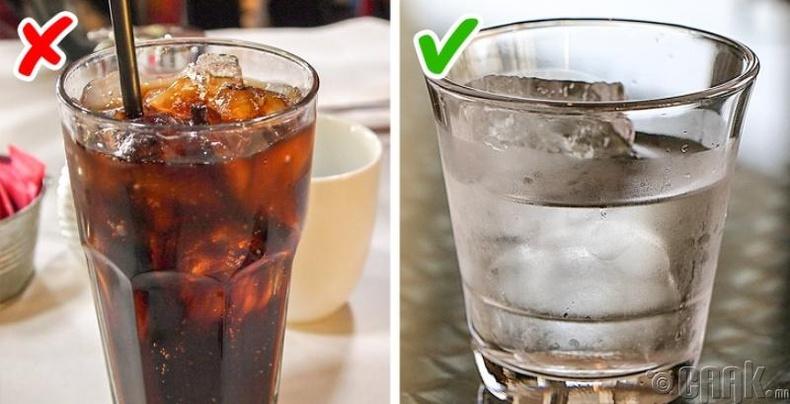 Антибиотик + хийжүүлсэн ус, ундаа