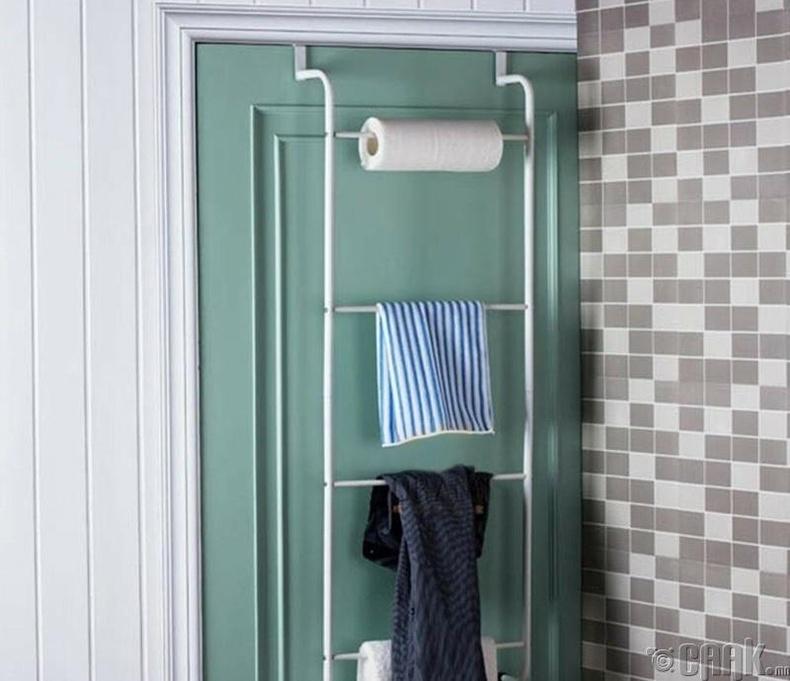 Угаалгын болон унтлагын өрөөний зайг хэмнэх өлгүүр