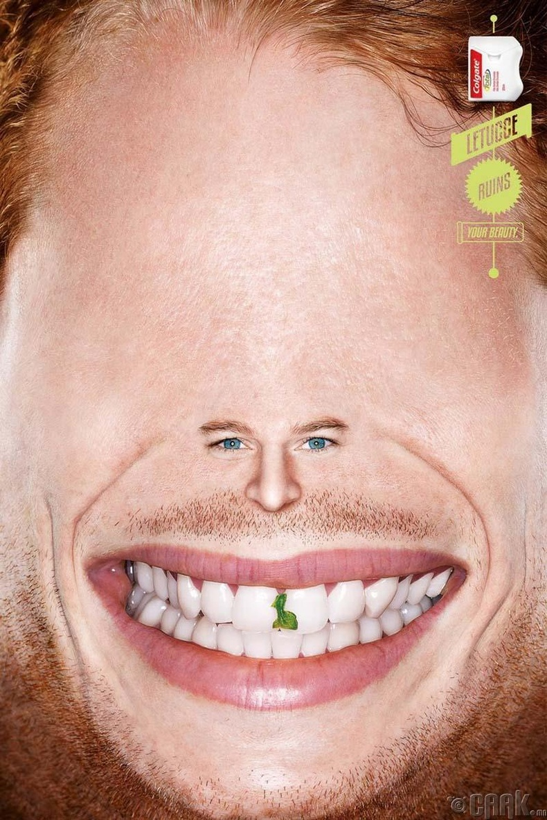 Colgate-ийн шүд цэвэрлэгч утасны сурталчилгаа