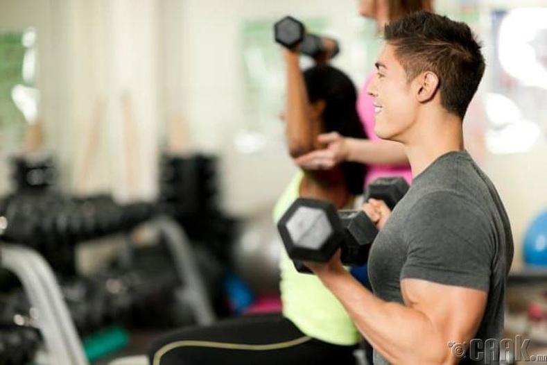 Фитнессээр хичээллэх