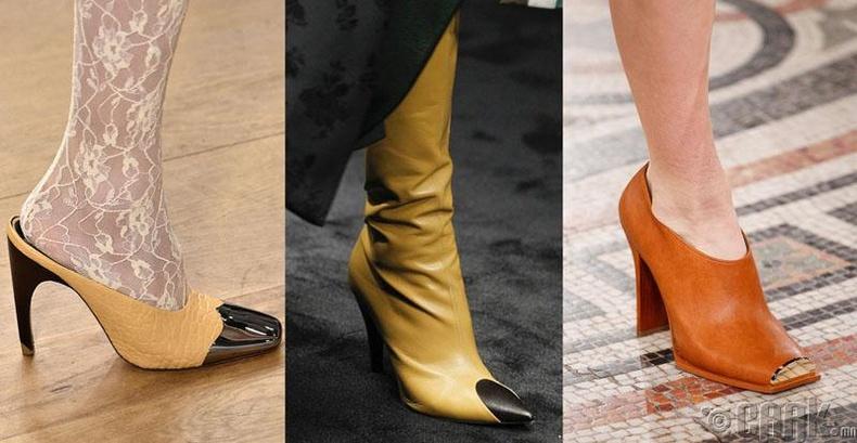Хоёр өнгийн оруулга бүхий гутал