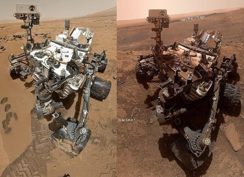 """""""Nasa""""-ын Ангараг гариг дээрх """"Curiosity"""" судалгааны робот 7 жилийн дараа ингэж өөрчлөгджээ"""