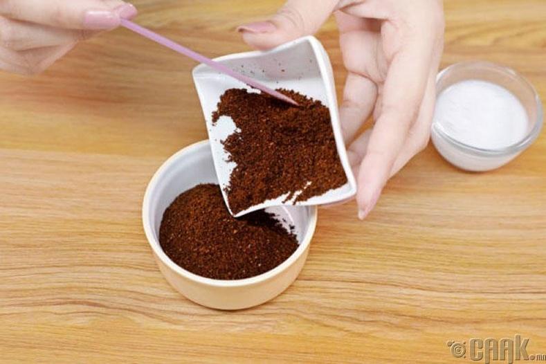 Кофе болон кокосын сүүтэй нүүрний скраб бэлтгэх