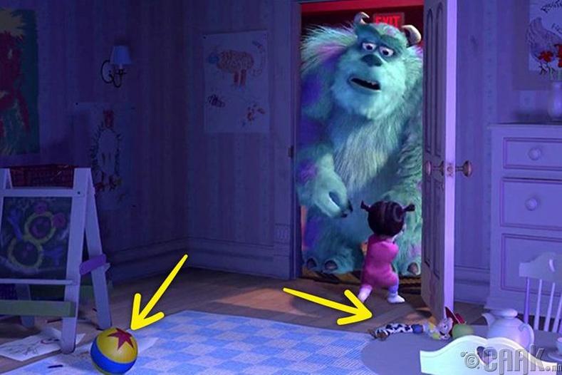 """""""Мангасууд"""" кинон дээр Toy Story-ын Жесси болон алдарт бөмбөг гардаг"""