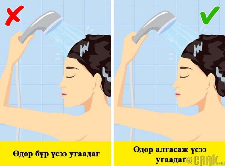 Бид бодохдоо: Үсээ өдөр бүр угаах ёстой