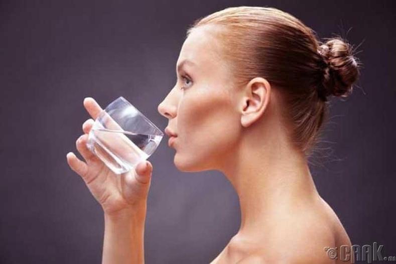Өдрийн турш цэвэр ус уух