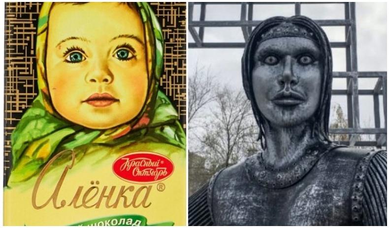 Оросын тосгонд босгосон Алёнкагийн хөшөө цахим орчинд наргианы сэдэв болжээ