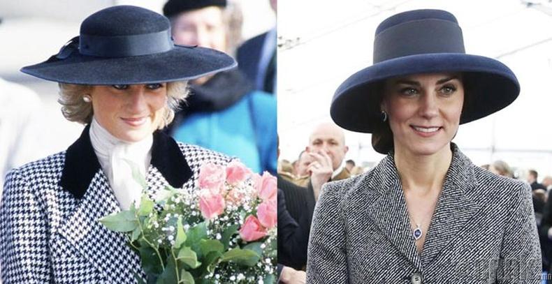 Кейт Миддлтон Диана гүнжийг дуурайдаг уу? Гоёмсог саарал өнгийн малгай, хүрэм