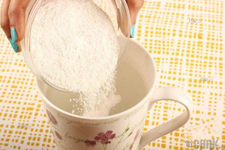 Аяган дээрх цай болон кофений толбыг арилгах