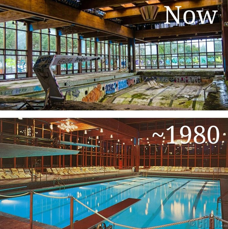Гроссинжерийн амралтын газар доторх бассейн - Нью-Йорк