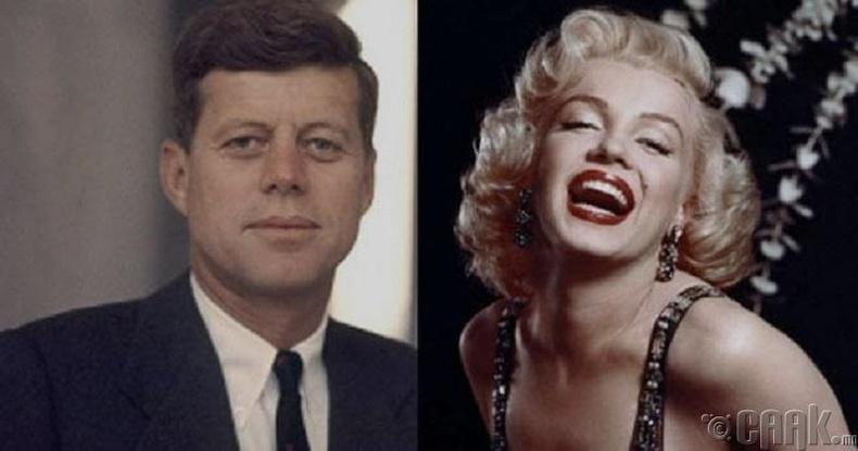 Жон Кеннеди болон Мэрилин Монро