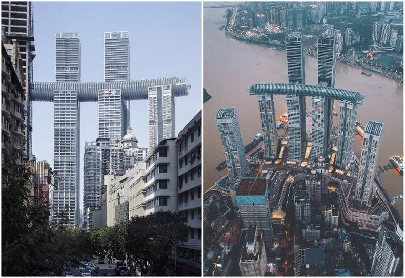 """Safdie Architects""-ийн ""The Crystal"" цамхаг (Чунцин, Хятад)"
