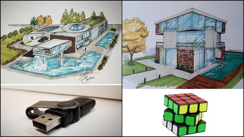 Өдөр тутмын эд зүйлсээс санаа авч барилгын загвар гаргадаг архитекторын бүтээлүүд