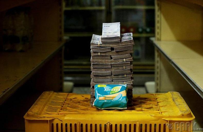 Ариун цэврийн хэрэглэл - 3.5 сая боливар буюу 53 цент