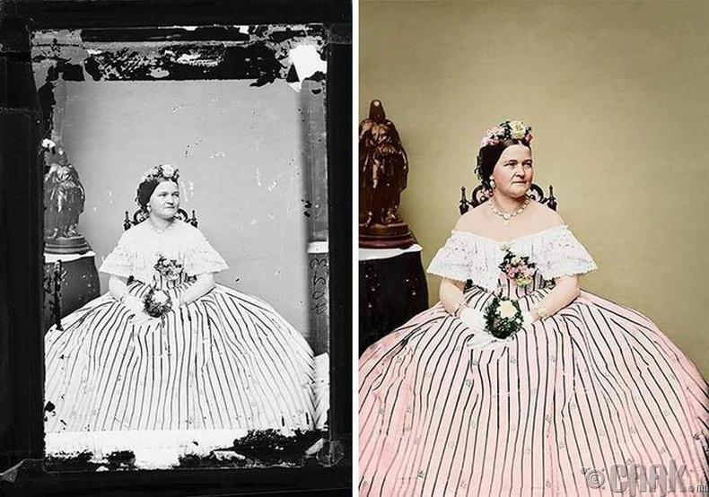 Абраам Линкольнын эхнэр Мэри Тодд, 1855 он