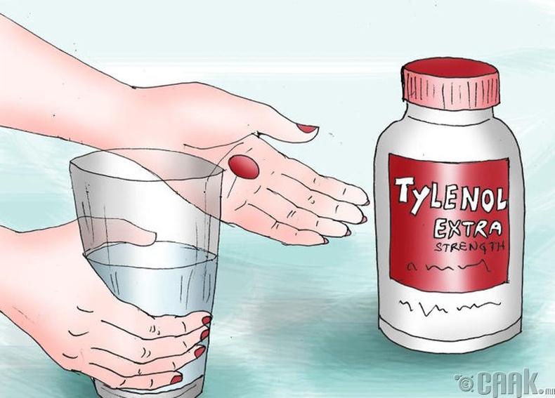 Өвчин намдаах, толгойны эм уух