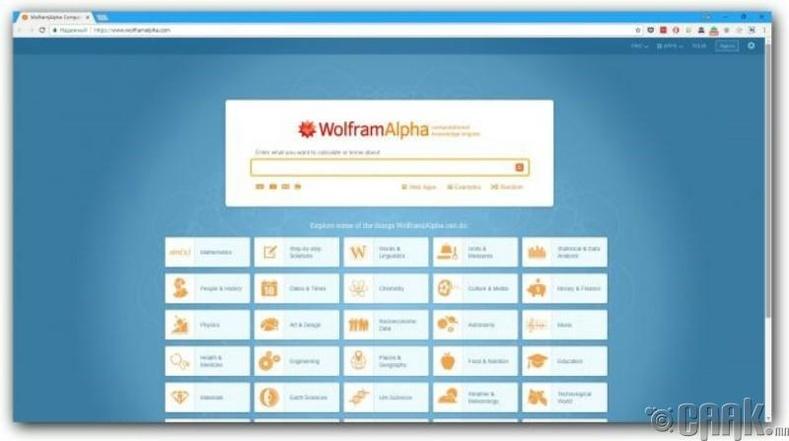 """Wolfram|Alpha"""
