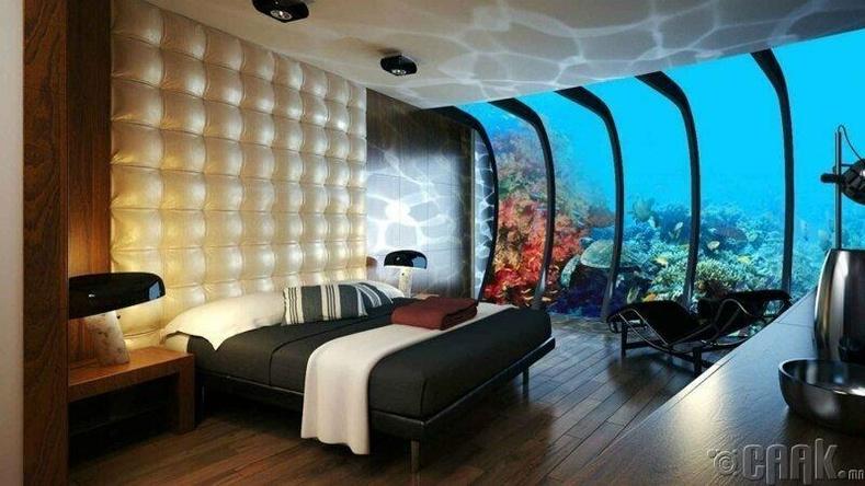 Дубай дахь усан доорх зочид буудал