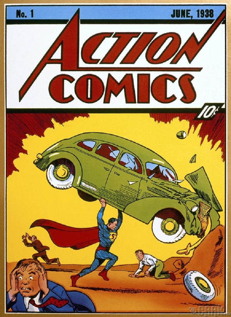 1938 оны Супермэний анхны комикийг хананд шавсан байжээ