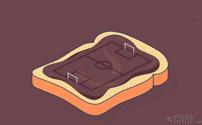 Дэлхий даяар зарагдаж буй Nutella-гаар 1000 хөл бөмбөгийн талбайг хучих боломжтой